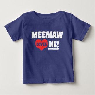 MeeMaw Loves Me Baby T-Shirt