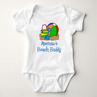 Meemaw's Beach Buddy Baby Bodysuit