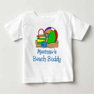 Meemaw's Beach Buddy Baby T-Shirt