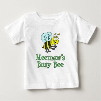 Meemaw's Busy Bee Cute Cartoon Baby T-Shirt