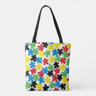 Meeple people game pieces tote bag