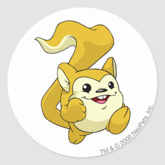 Meerca Yellow Round Sticker