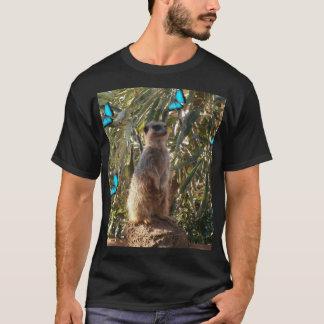 Meerkat And Blue Butterflies, T-Shirt