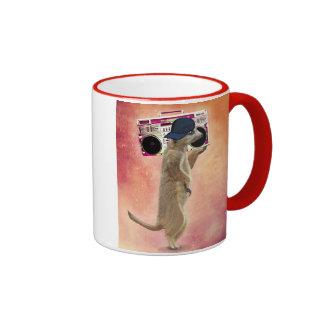 Meerkat and Boom Box Ringer Mug