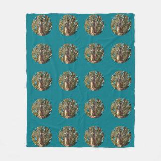 Meerkat_And_Butterflies,_Medium_Fleece_Blanket Fleece Blanket
