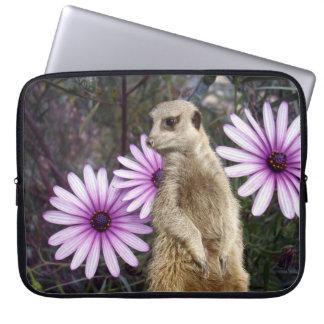 Meerkat And Daisies, Laptop Sleeve