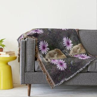 Meerkat_And_Daisies,_Snugly_Throw_Blanket.