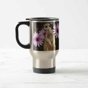 Meerkat_And_Daisies,_Travel_Mug. Travel Mug
