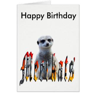 Meerkat And Logo, Happy Birthday Card