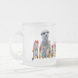 Meerkat And Meerkat Logo,Frosted Glass Mug