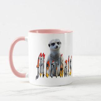 Meerkat And Meerkat Logo, Pink Coffee Mug