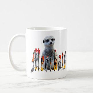 Meerkat And Meerkat Logo, White Coffee Mug