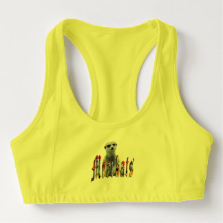 Meerkat And Meerkat Logo, Yellow Alo Sports  Bra