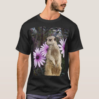 Meerkat And Purple Daisies, T-Shirt