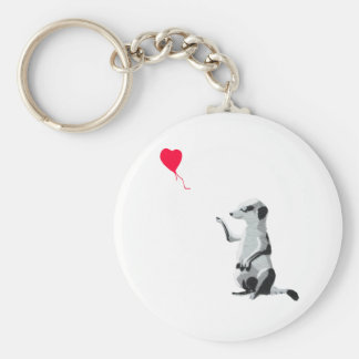 Meerkat and the red balloon key ring