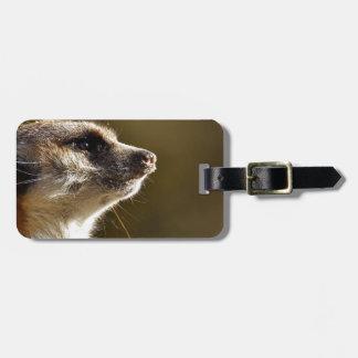 Meerkat Animal Nature Zoo Tiergarten Small Fur Luggage Tag