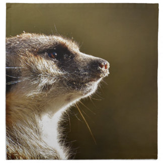 Meerkat Animal Nature Zoo Tiergarten Small Fur Napkin