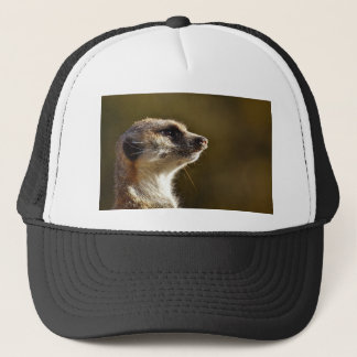 Meerkat Animal Nature Zoo Tiergarten Small Fur Trucker Hat