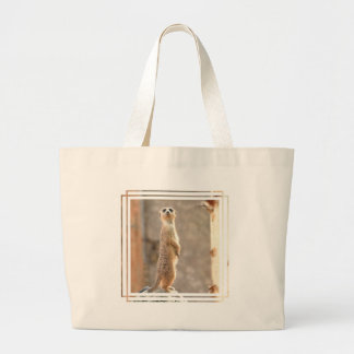 Meerkat at Attention Canvas Bag