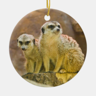 meerkat ceramic ornament