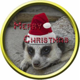 Meerkat Christmas Ornament Photo Sculpture Decoration