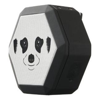 Meerkat face silhouette black bluetooth speaker