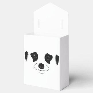Meerkat face silhouette favour box