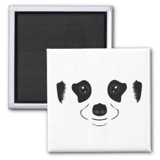 Meerkat face silhouette magnet