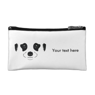 Meerkat face silhouette makeup bag