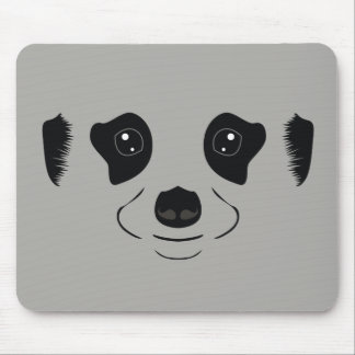 Meerkat face silhouette mouse pad