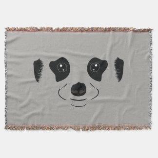 Meerkat face silhouette throw blanket