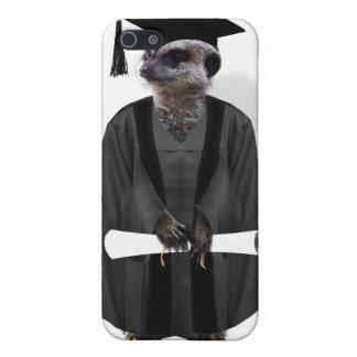 Meerkat Graduate W/Grey Gown & Black Sash iPhone 5 Covers