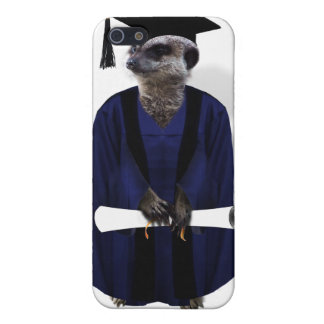 Meerkat Graduate (with Blue Gown w/Black Sash) iPhone 5/5S Cases