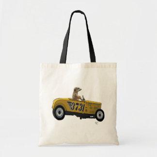 Meerkat in Hot Rod 2 Budget Tote Bag