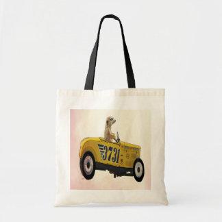 Meerkat in Hot Rod 3 Budget Tote Bag