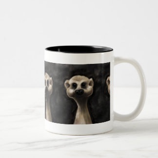 Meerkat large coffee mug! Two-Tone coffee mug