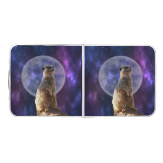 Meerkat Moonlight, Folding Aluminum Table. Beer Pong Table