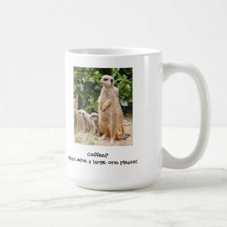 Meerkat mug large one