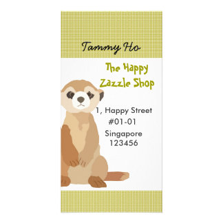 Meerkat Namecard Vertical Photo Card Template