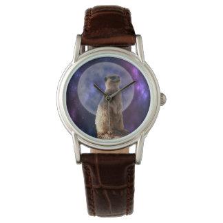 Meerkat On Blue Full Moon Night, Watch