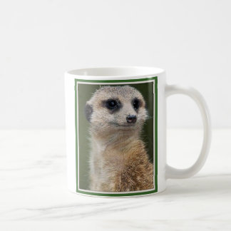 Meerkat on the look out basic white mug