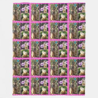Meerkat_Photo_Collage_Large_Fleece_Blanket Fleece Blanket
