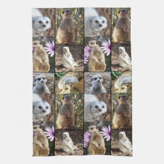 Meerkat Photo Collage Tea Towel