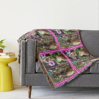 Meerkat_Photo_Collage,_Throw_Blanket