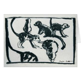 Meerkat pups - Art card