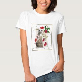 Meerkat Santa Mousepad T-shirts