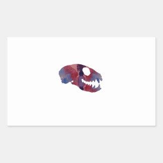 Meerkat Skull Rectangular Sticker