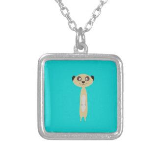 Meerkat Square Pendant Necklace