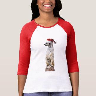 Meerkat wearing a Santa Claus Hat T-Shirt
