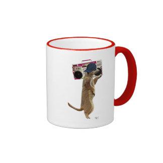 Meerkat with Boom Box Ghetto Blaster 2 Ringer Mug